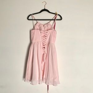 Dresses & Skirts - Light baby pink lace up back dress